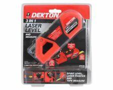 Dekton 3 in 1 Laser Pointer Spirit Level & Tape Measure