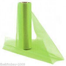 Lime Verde Organza Neve SHEER multifunzione RUNNER SEDIA legami 29 cm da 25m SPEDIZIONE GRATUITA