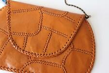 Ethnic vintage inspired handmade genuine cow leather patchwork clutch bag women