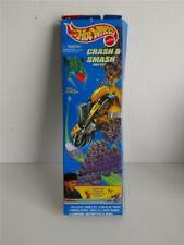 1995 Mattel Hot Wheels Crash & Smash Bike Set Skullrider Figure in Original Box