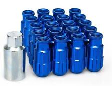 20 x BLUE D1 Aluminium Lock Lug Wheel Nuts (M12x1.5) with tool