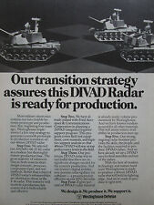 3/1981 PUB WESTINGHOUSE DEFENSE FORD 40-MM DIVAD GUN RADAR ORIGINAL AD
