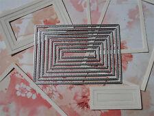8x stitched Rechtecke Thinlits Stanzformen zur Big Shot Stampin up + Sizzix
