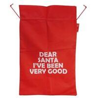 HUGE Draw String 90cm Christmas Santa Sack Presents Gift Decoration Stocking Bag
