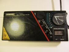VINTAGE MLG-380 PORTABLE AM/FM CLOCK & ALARM RADIO