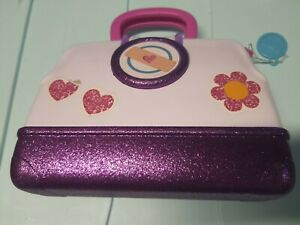 Disney Doc McStuffins Kit Bag Carrying Case sparkly pink Pre-owned Empty