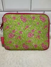 Lily Pulitzer Soft Ipad Case Pink & Green Floral