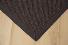 Sisal Teppich Manaus mit Bordüre anthrazit 200x250 cm 100% Sisal granit