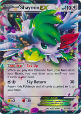 Shaymin EX 77/108 XY Roaring Skies HOLO PERFECT MINT! Pokemon