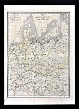 1830 Langlois Atlas Map Germania Ancient Germany Austria Raetia Pannonia Noricum