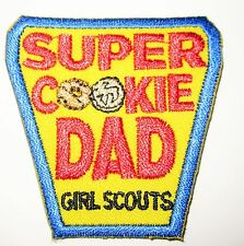 """New Girl Scout Cookie Sale Fun Patch """"Super Cookie Dad"""""""