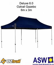 6m x 3m Oztrail Gazebo DELUXE 6.0 BLUE Instant Fold Marquee Pavilion G-OZD6.0