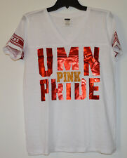 Victoria's Secret Pink Minnesota Golden Gophers V-Neck Tee Shirt Bling