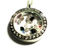 Dog Lovers pendant locket with charms & Swarovski beads.