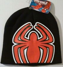 Spiderman Knit Cap Black Winter Kids Beanie Hat New with Tags Kids Boys