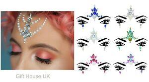 Face Gem Pearl Body Gems Glitter Sticker Tattoo Rhinestone Jewels Christmas Gem