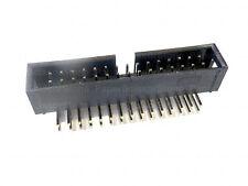 "20Pcs 30 Pin Angled 2.54mm 0.1"" Pitch Male Shrouded PCB Box Header IDC Socket"