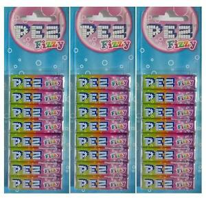 3x Pack Of 8 PEZ Refills Fizzy Flavour Sweets For PEZ Dispenser (24 Refills)