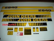 John Deere 2840 tractor decal set with caution decals