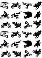 Motocross Eßbar Tortenbild Party Deko Muffinaufleger Cupcake neu Motorrad Helm