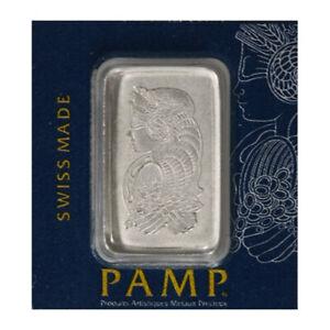 2.5 Gram Bar PAMP Suisse Lady Fortuna PALLADIUM Multigram .9995 Fine Bullion