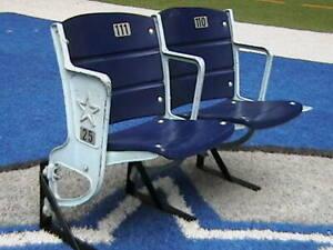 Texas Stadium seats - Dallas - set of 2 - Riser Mount, Star Logo