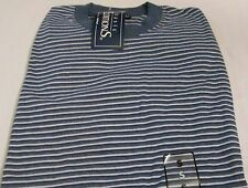 Basic Edition T-Shirt Small Navy Tri Stripe 50/50 Cotton/Polyester