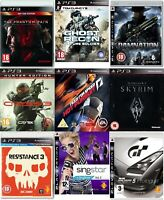PS3 Playstation 3 Video Game Buy 1 or Bundle Up - Elder Scrolls Tom Clancy