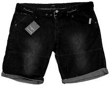 New Mens Pierre Cardin Denim Shorts With Belt Black Size M