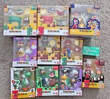 SUPER MARIO BROS S.H. FIGUARTS LOT OF 11 OFFICIALLY LICENSED SET SDCC BROTHERS