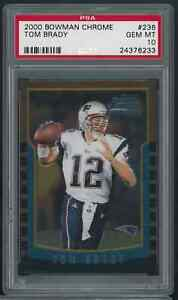 2000 Bowman Chrome #236 Tom Brady Patriots RC Rookie PSA 10 GEM MINT HIGH END