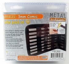3mm COMIC Letter Stamp Set Punch 27 Piece Steel Metal Alphabet Letters