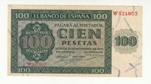 Spain 100 pesetas 1936 EF @ low start