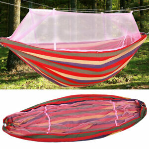 Double Person Camping Tent Hanging Hammock Bed with Mosquito Net Portable Set