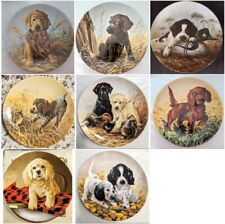 SET of 8 Edwin M. Knowles Field Puppies Collector Plates
