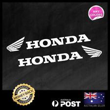 Honda Pair Wing Motorcycle Side 300x46mm Vinyl Sticker Decal