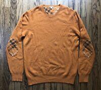 Burberry Brit Mens Long Sleeve Elbow Nova Check Crewneck Sweater Size 2XL