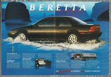 1988 Chevrolet BERETTA 2-page advertisement, Chevy sport coupe
