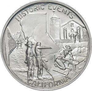 Sterling Silver - California - 925 - 31.1 Grams Round/Art Bar *759
