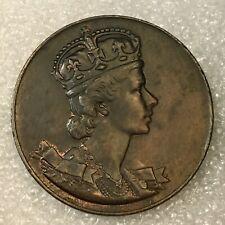 1953 ELIZABETH II Regina CORONATA Queen Coronation token medal, free combined SH