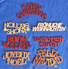 Merry Christmas Ornament Set - Merry Christmas In 7 Different Languages
