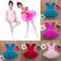 Toddler Girls Gauze Leotards Ballet Bodysuit Dancewear Dress Clothes Outfits AB