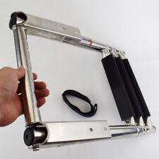 Hot 3 Step Telescoping Folding Ladder Platform Boarding Swim For Boat Marine Sea
