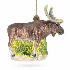 Moose Blown Glass Christmas Ornament