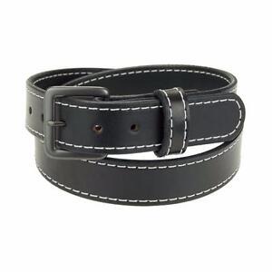 """Men's_1 3/4"""" Heavy Duty Leather Work Belt_Stitched Gun Belt_Amish Handmade"""
