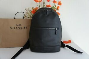 NWT Coach F72510 West Slim backpack Pebble Leather Campus Laptop Black $498