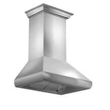 "Zline 36"" Stainless Steel Wall Range Hood with Led, Crown molding 587Crn-36"