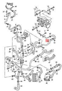 Genuine AUDI RS3 Sportback Lim. RSQ3 8UB 8VA Coolant Hose Left 07K121499J