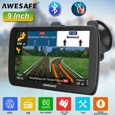 """9"""" AWESAFE GPS Navigation portable SAT NAV POIs for Lorry Car with Bluetooth"""