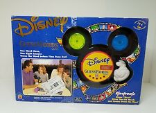 Disney Guess Words Electronic Family Board Game By Mattel Mint Condition